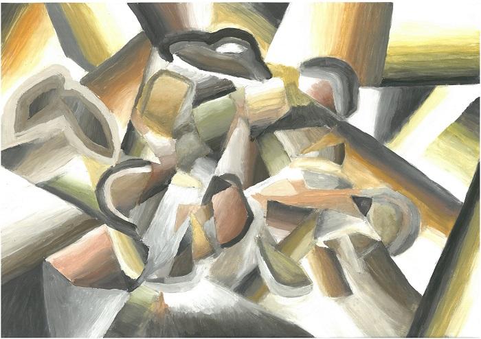 Kubistisches Teeservice