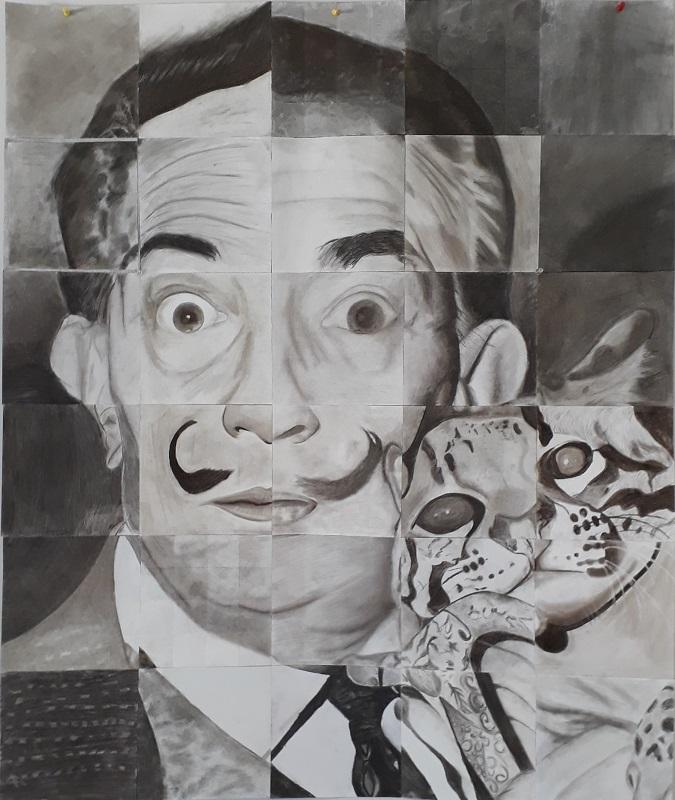 Gemeinschaftsarbeit des 11er Kunstkurses zu Salvador Dalí